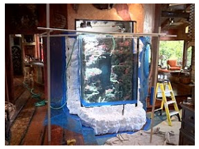1100 gallon aquarium built into home with custom rock work and specialty filtration 180K